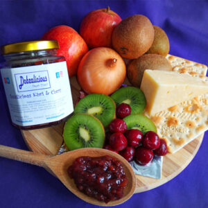 Kiwi and cherry chutney derby dobzalicious